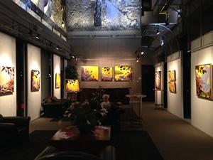 Vue de l'expo en cours au Grand-Théâtre de Québec