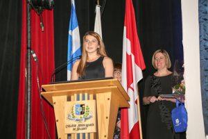 Anne-Sophie Lacasse, récipiendaire de la Médaille académique du Gouverneur général