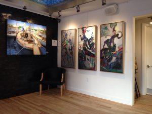 Un angle de vue de la Galerie d'art uNo