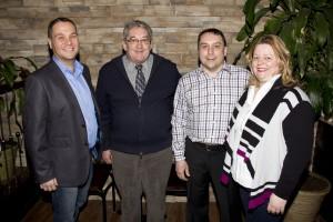 Christian Noël, directeur général des Arts de la scène                 Marc Couillard, président des ADLS                 Martin Desroches et Bianca Bernier, propriétaires du Bistro Lafontaine