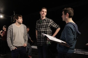 Sean Colby (Adam), Adam Capriolo (Seb) et Scott Humphrey (Benny)