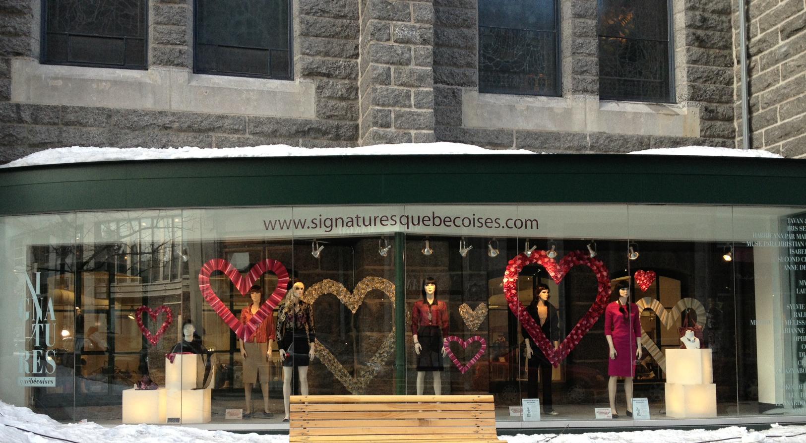 Vitrine Saint-Valentin de la Signatures québécoises