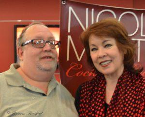 Nicole Martin avec Luc Bertrand (directeur  et fondateur d'info-culture)