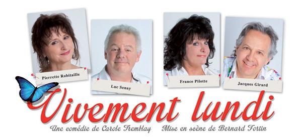 Pierrette Robitaille, France Pilotte, Jacques Girard et Luc Senay.