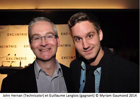 John Hernan (Technicolor) Guillaume Langlois (gagnant)