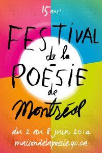 Le Festival de la poésie de Montréal