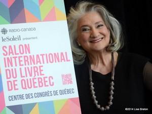 Marie-Laberge, présidente d'honneur, Salon International du livre de Québec