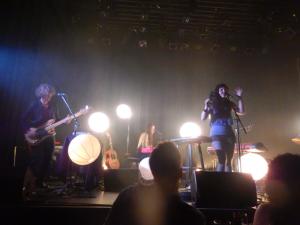 Chloé Lacasse et ses musiciens au Petit Champlain