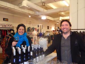 """Dégustation de vin avec une cliente et  Marcel Henri de """"Ardoa"""""""
