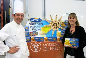 le Chef Christophe Alary et Élaine Côté, directrice générale.