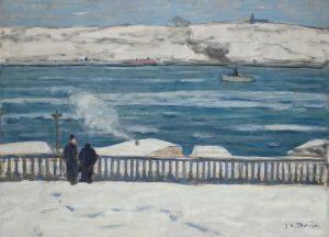 Vue de Lévis depuis Québec de Morrice (1909)