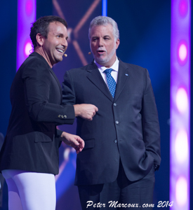 Éric Salvail et Philippe Couillard