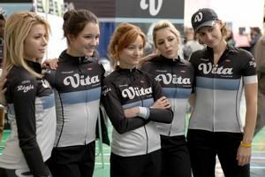 l'équipe de cyclisme fille.