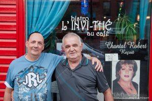 Daniel et Paul propriétaires du Bistro l'Invi-Thé