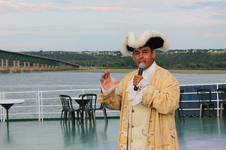 Le guide sur le bateau