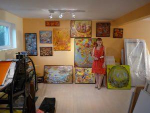 Suzanne Lavigne dans son atelier à Québec