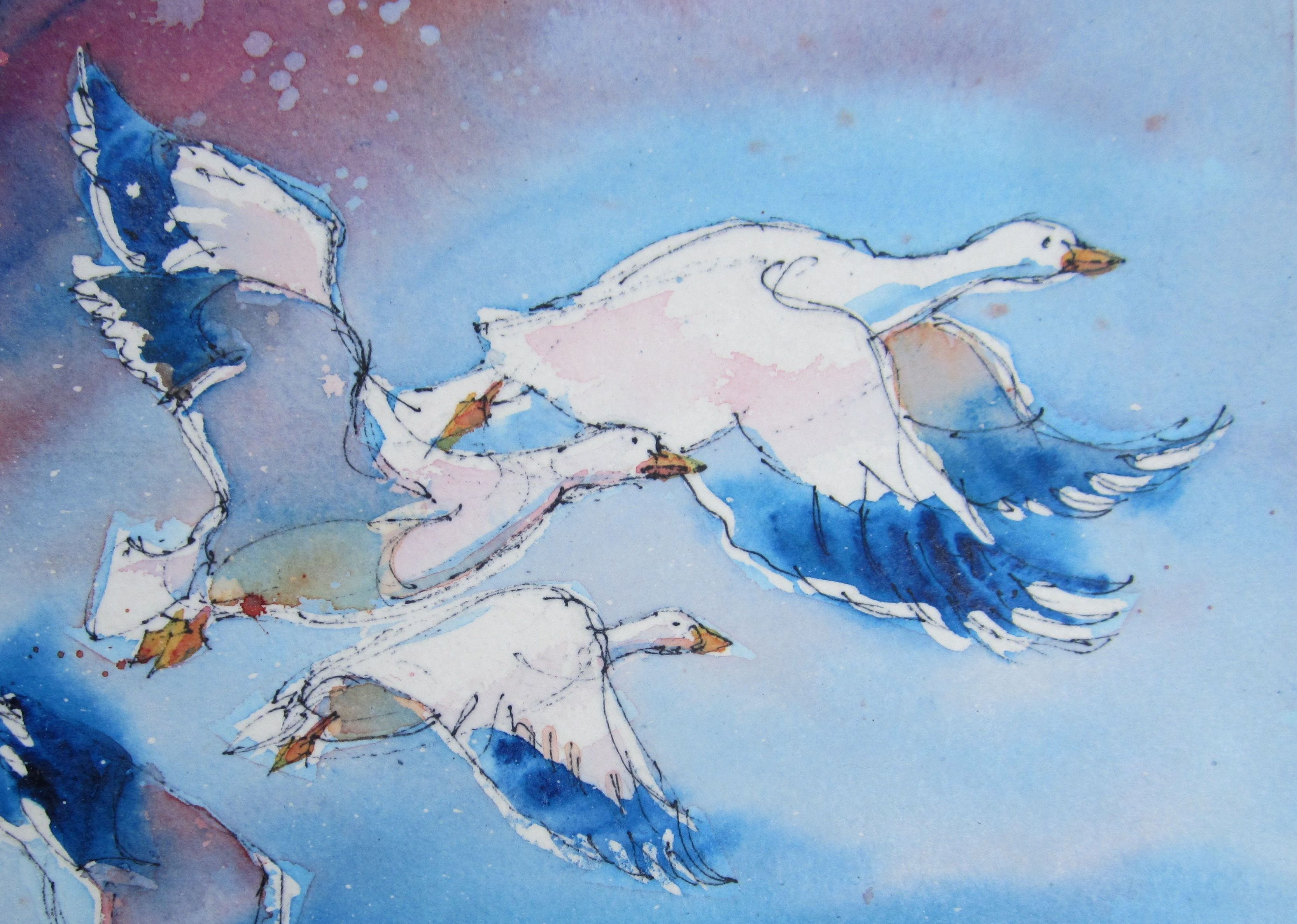 Oeuvre de Marie Gauthier - La danse des oies