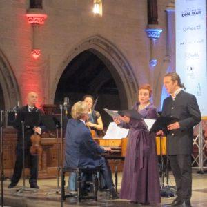 Dominique Labelle et Daniel Taylor, accompagnés par les musiciens de Wiener Akademie