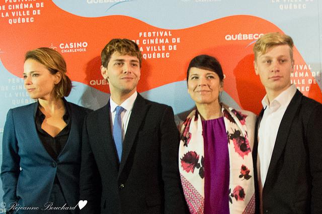 Suzanne Clément, Xavier Dolan, Anne Dorval et Antoine Olivier Pilon sur le tapis rouge du FCVQ