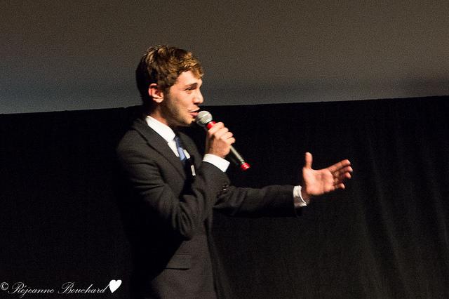 Xavier Dolan après la présentation de son film au FCVQ
