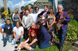 Des artistes présents au lancement de la programmation d'automne au Centre d'art La Chapelle