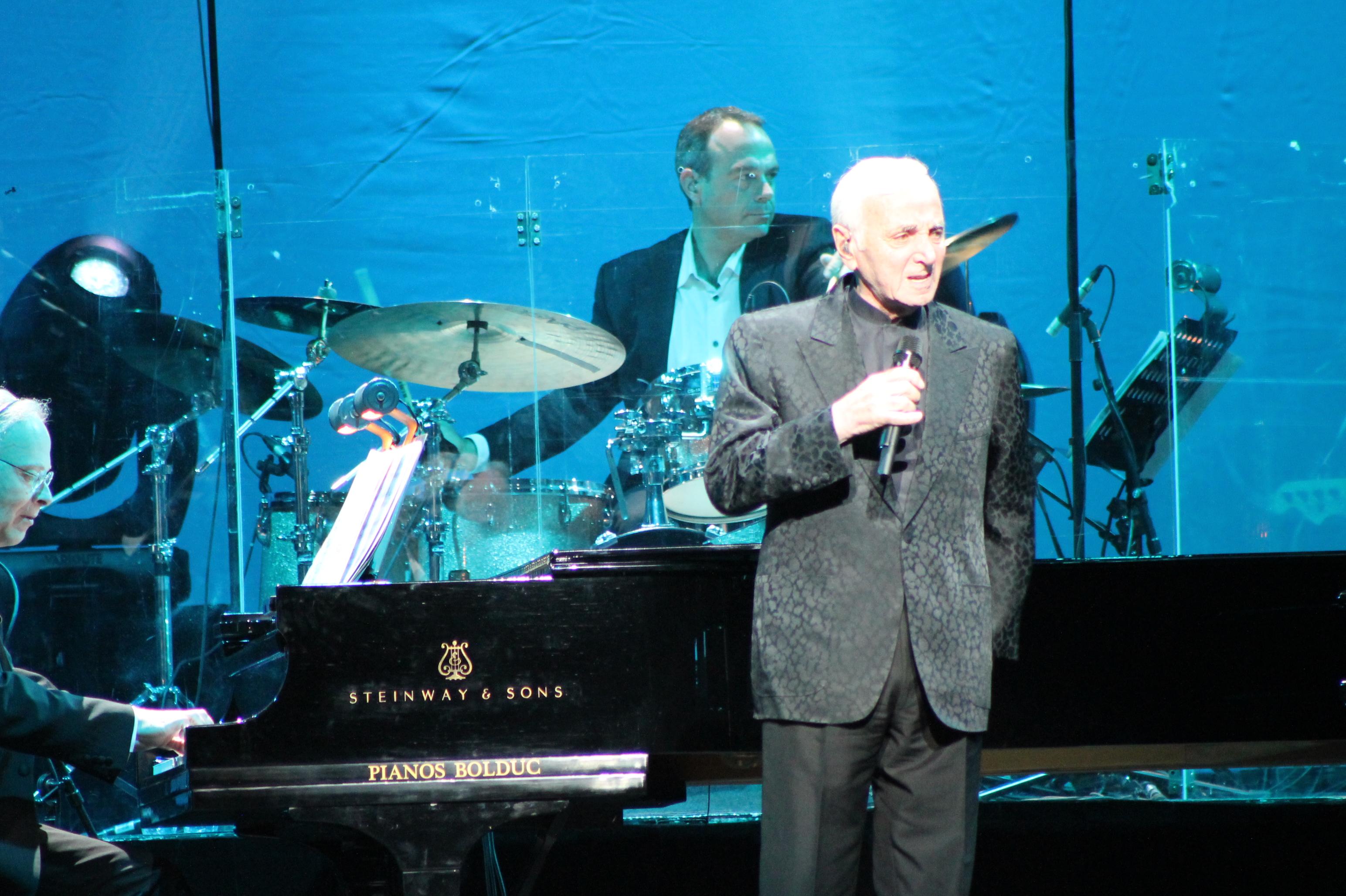 Charles Aznavour au Centre Bell - 17 septembre 2014 ©Suzette Paradis