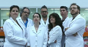 Les 7 auteurs : Marilou Addison, Alain Chaperon, Eve Patenaude, Martin Dubé, Madeleine Robitaille, Marc-André Pilon et Carl Rocheleau