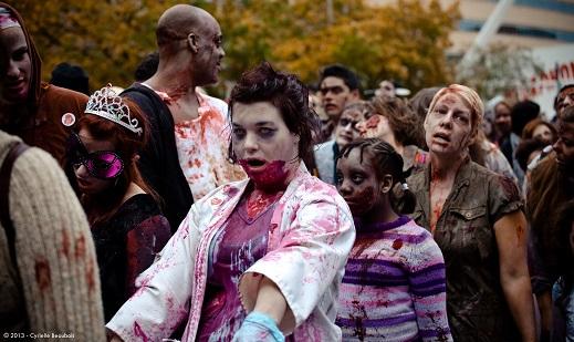 La 4e Marche des zombies de Montréal  © photo  : courtoisie