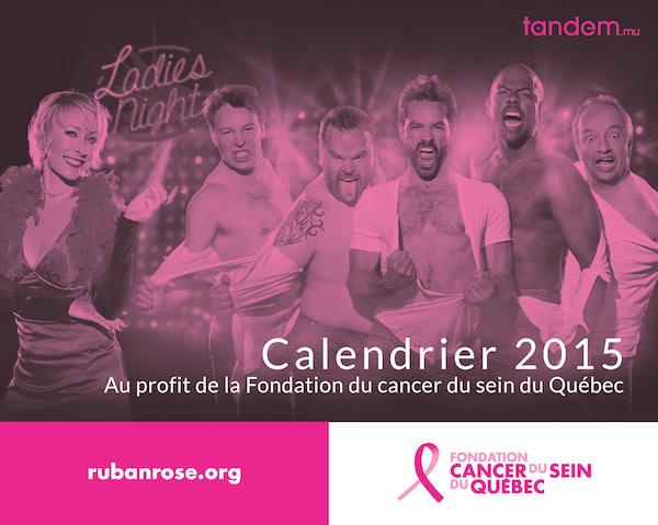 Ladies Night : un calendrier au profit de la Fondation du cancer du sein du Québec