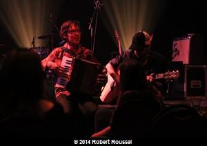 David à l'accordéon et Guillaume Bourque à la guitare