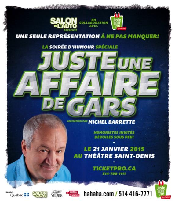 Michel Barrette animera «Juste une affaire de gars»