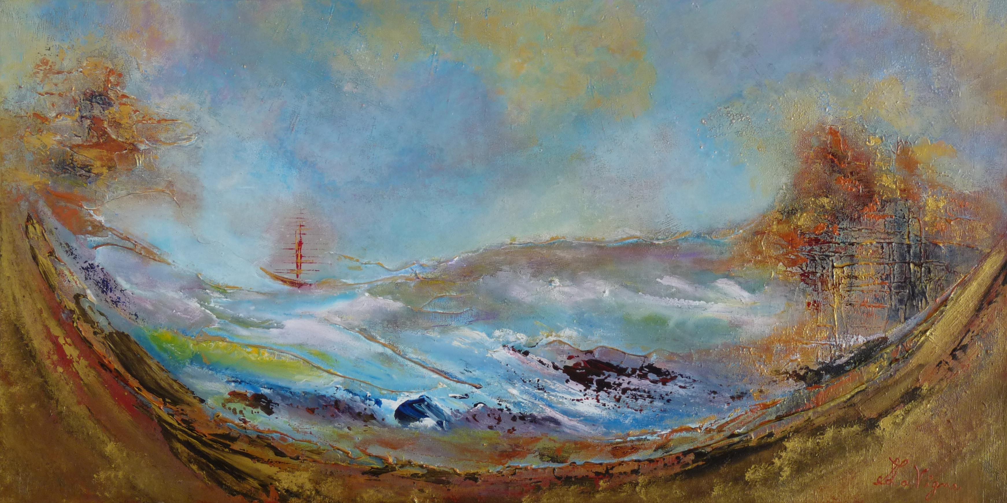 Le berceau de la mer - Oeuvre de Suzanne Lavigne © photo: courtoisie