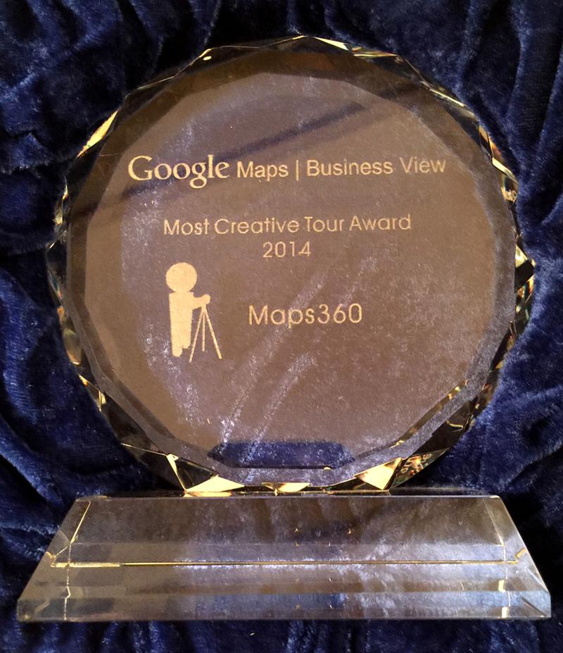"""L'entreprise MAPS360 gagnante d'un """"Google Business View Award"""""""