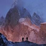 David Lama et son partenaire près de Cerro Torre, Patagonie, Argentine