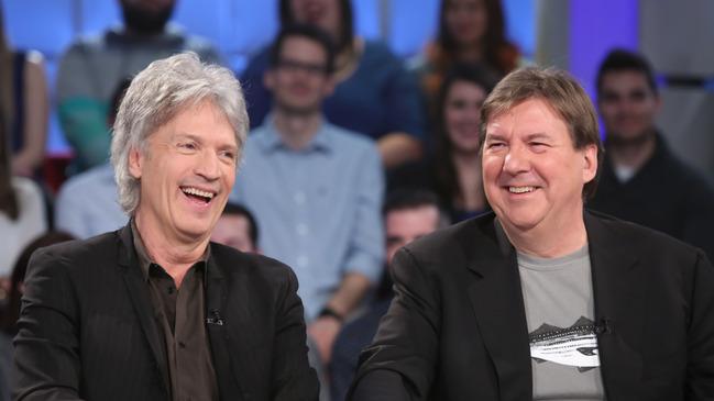 Claude Meunier et Rémy Girard à Tout le monde en parle ce dimanche 25 janvier 2015 © photo: Karine Dufour