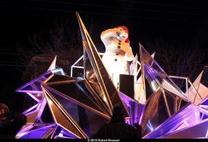 Bonhomme Carnaval au défilé de nuit de Charlesbourg