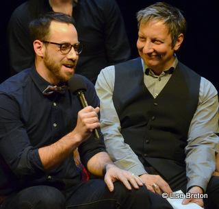 Jean-Pierre Cloutier et Robert Lepage, metteurs en scène de Quills © photo: courtoisie