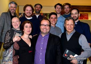 Quelques comédiens de la Saison 15-16 du Trident © photo: Lise Breton
