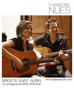 Chansons nues avec Brigitte Saint-Aubin et Denis Ferland © photo: courtoisie