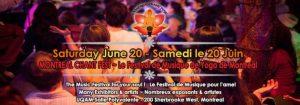 Festival de musique et yoga de Montréal.
