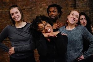 Les danseurs: Mathilde Gesseaume-Rioux, Jenny Brizard, Mohamed N'Diaye, Genevieve Lauzon, Marie-Denise Bettez