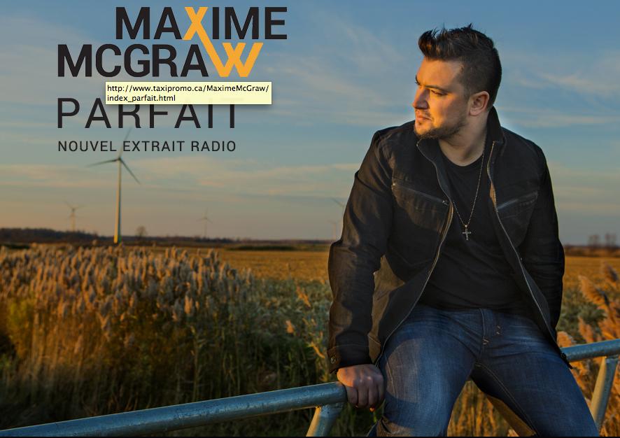 Maxime McGraw présente son nouvel extrait radio Parfait © photo: courtoisie