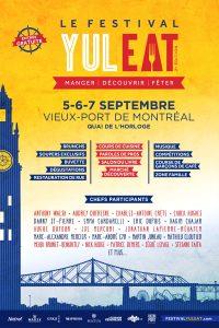 Le Festival YUL EAT  5-6-7 septembre  Quai de l'Horloge, Vieux-Port