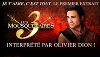 Je t'aime c'est tout, le premier vidéoclip des 3 Mousquetaires avec Olivier Dion