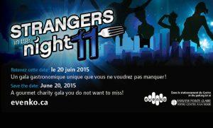 Soirée bénéfice Strangers in the night le 20 juin
