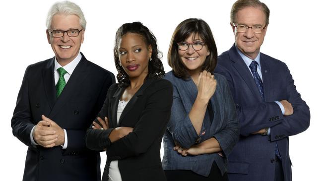 Le Club des Ex: Simon Durivage, Yolande James, Marie Grégoire, Rémy Trudel © photo: courtoisie