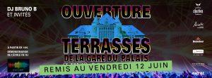 La soirée d'ouverture des terrasses  de la Gare du Palais