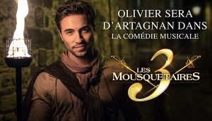 Olivier Dion sera D'Artagnan  - Les 3 Mousquetaires