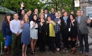 Membre du conseil d'administration du FCVQ et leurs invités © Lise Breton