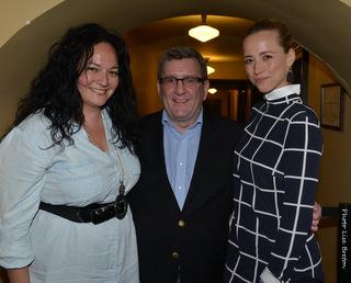 Nathalie Brigitte Bustos, Régis Labeaume & Karine Vanasse  © photo: Lise Breton